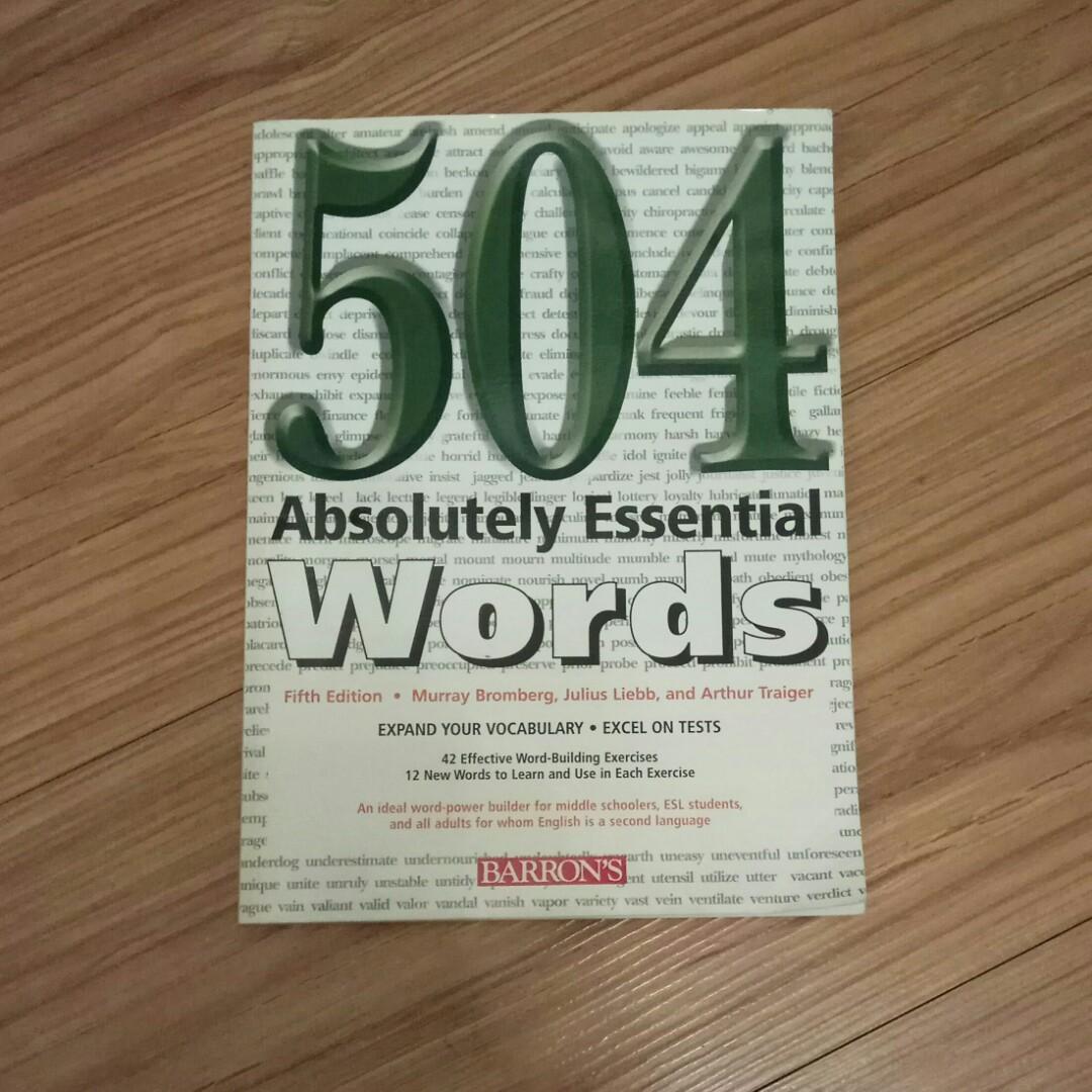 二手504 Absolutely  Essential  words 請看商品說明,8-9成新