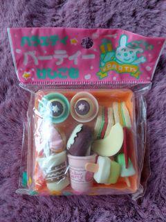 90年代日本製食物盒造型擦膠