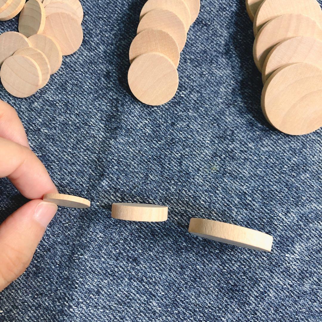 🎁免費贈送!全新3組原木木頭片|手工藝、圓形、手作、染色、創意、塗鴉