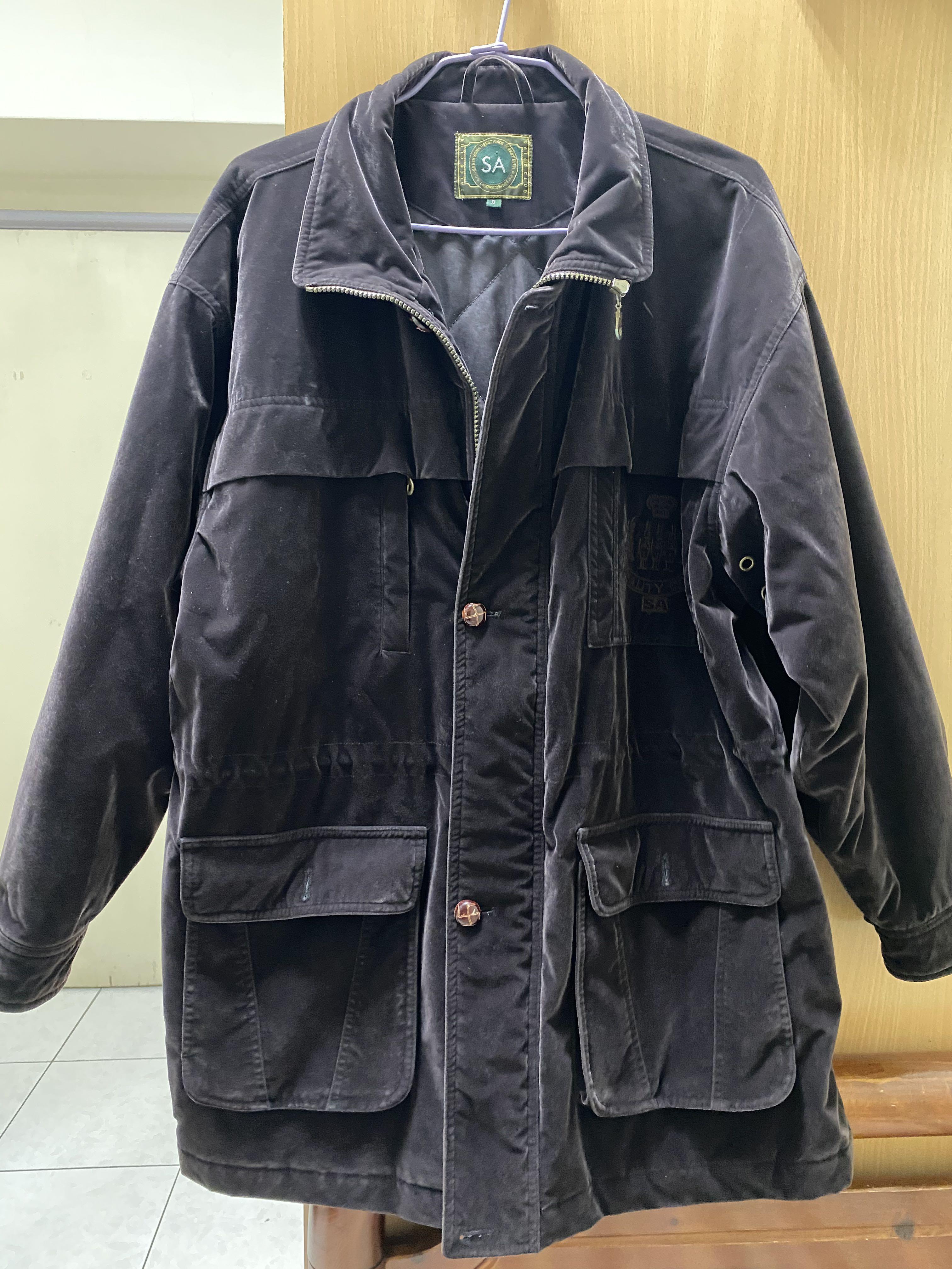 絨毛大衣 厚外套 紫黑色