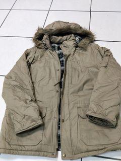 A&D 卡其色防風外套  保暖外套 韓風外套