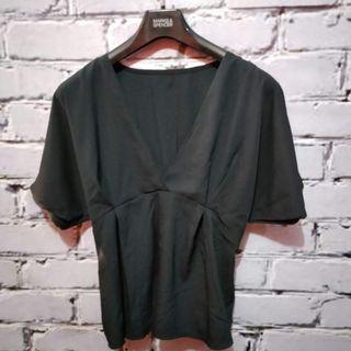 Babydoll blouse (black)