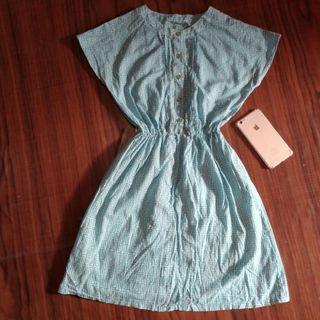 Dress batik biru