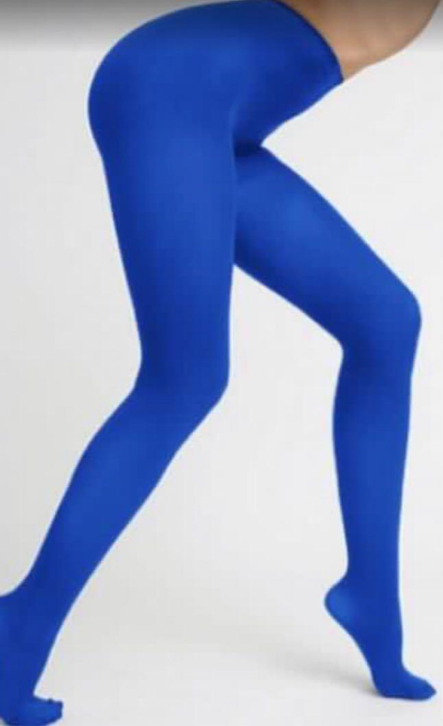 Halloween Electric Blue Tights