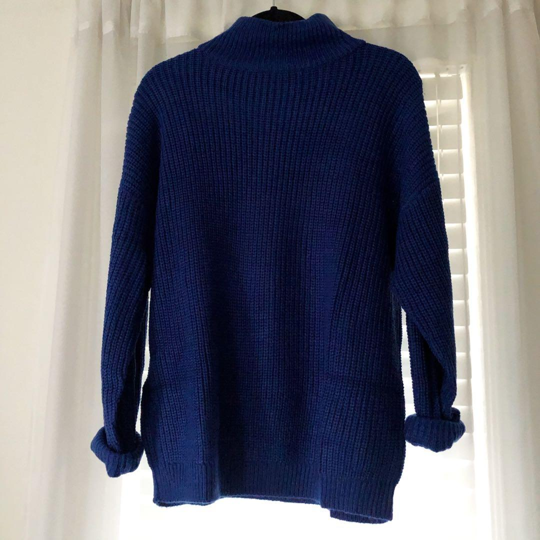 H&M Blue Turtleneck Sweater