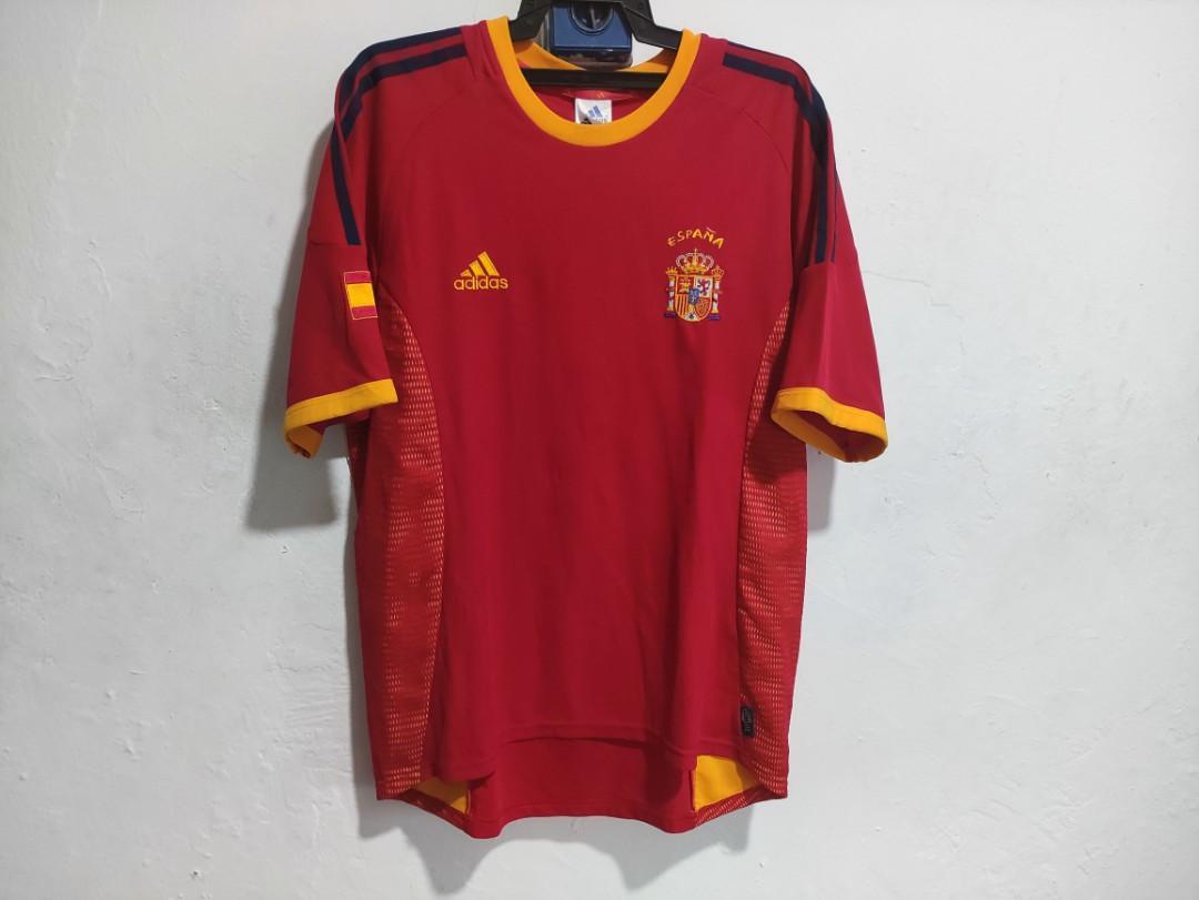 Jersey Sepanyol Home 2002-2004 Jersi Spain