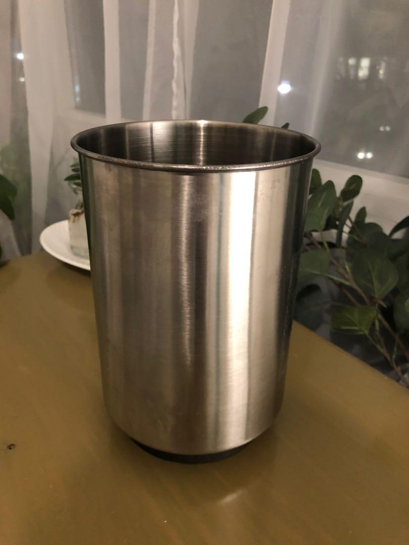 Large metal container - wine or cutlery