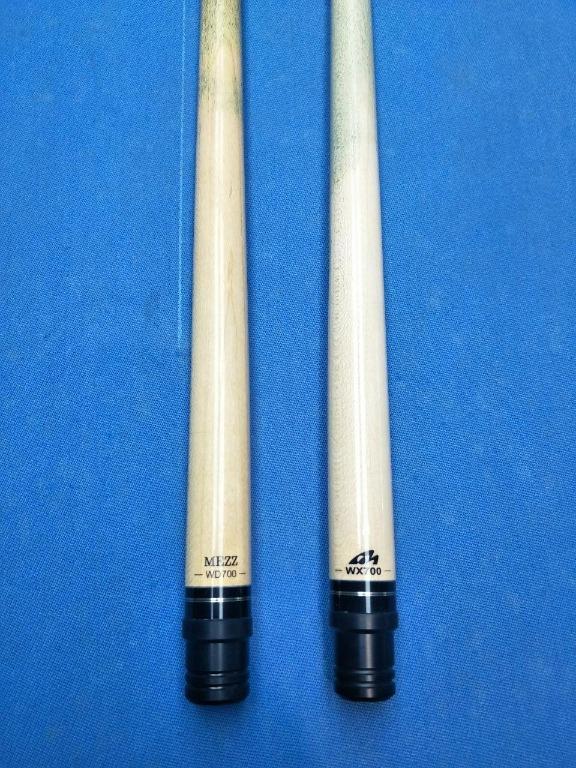KANG ASH Pool Snooker Billiard Cue Stick Set 4 x Two Piece Cues