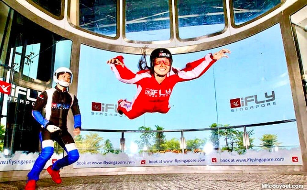 N Ifly Singapore Sentosa cheap ticket discount promotion cable car luge skyline Trick eye Aquarium Universal studios Adventure cove Madame Tussauds butterfly segway