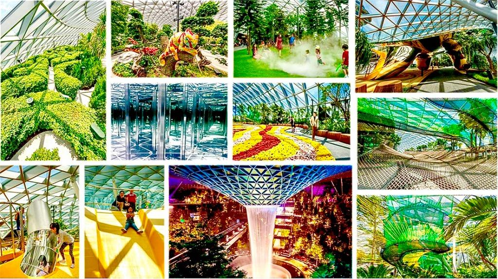 N Jewel Changi Airport cheap ticket discount Singapore change airport Hedge Maze Mirror Maze Manulife Sky Nets Walking Manulife Sky Nets Bouncing  Sentosa Aquarium