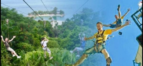 N Mega Adventure Zip Climp Jump cheap ticket discount Sentosa Aquarium Universal studios Adcenture cove cable car Madame Tussauds luge and skyride trick eye sky park garden by the bay