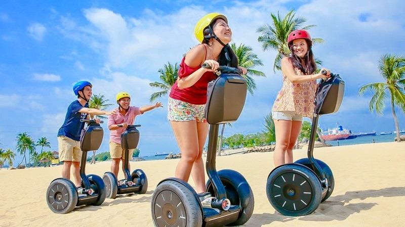N Segway Go green cheap ticket discount promotion Sentosa Aquarium Adventure Cove Universal cable car Madame Tussauds luge and sky ride trick eye sky park garden by the bay