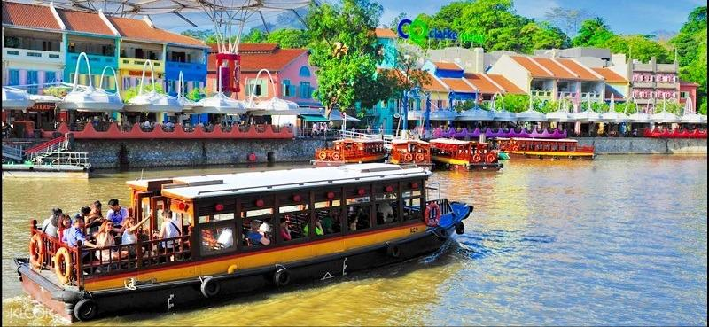 N Singapore River Cruise cheap ticket Boat ride discount Clark quay Zoo Garden by the bay sky park marina Aquarium Universal studios adventure cove