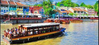 N Singapore River Cruise cheap ticket Boat ride discount Clark quay Zoo Garden by the bay sky park marina Aquarium Universal studios adventure cove