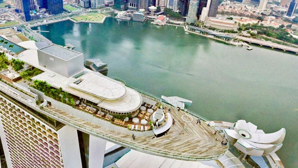 T Sky park skypark observation deck marina bay sands Hotel cheap ticket discount garden by the bay Nerf