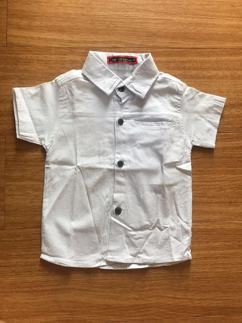White Shirt kemeja bayi New 6-9bulan #mauovo #oktoberovo