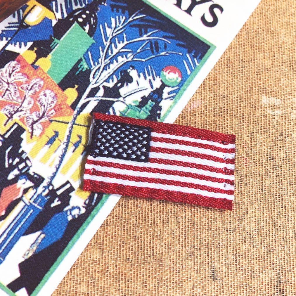🎁免費贈送!95新古著🇺🇸國旗刺繡布標、美國布貼|布章、迷你、手縫、縫紉、裝飾、手工藝