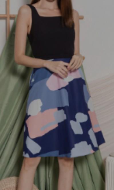 Tan Floral Print A-Line Ruffled Midi Sun Dress size 6 8 10 12 BNWT Beige