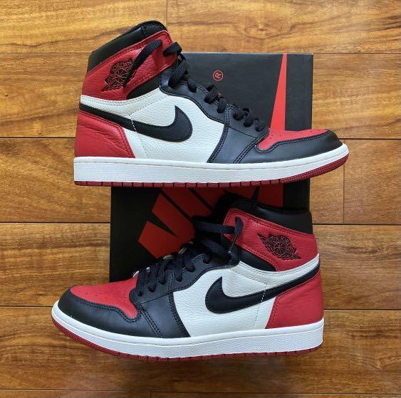 """Air Jordan 1 High OG """"Bred Toe"""" Size 10"""