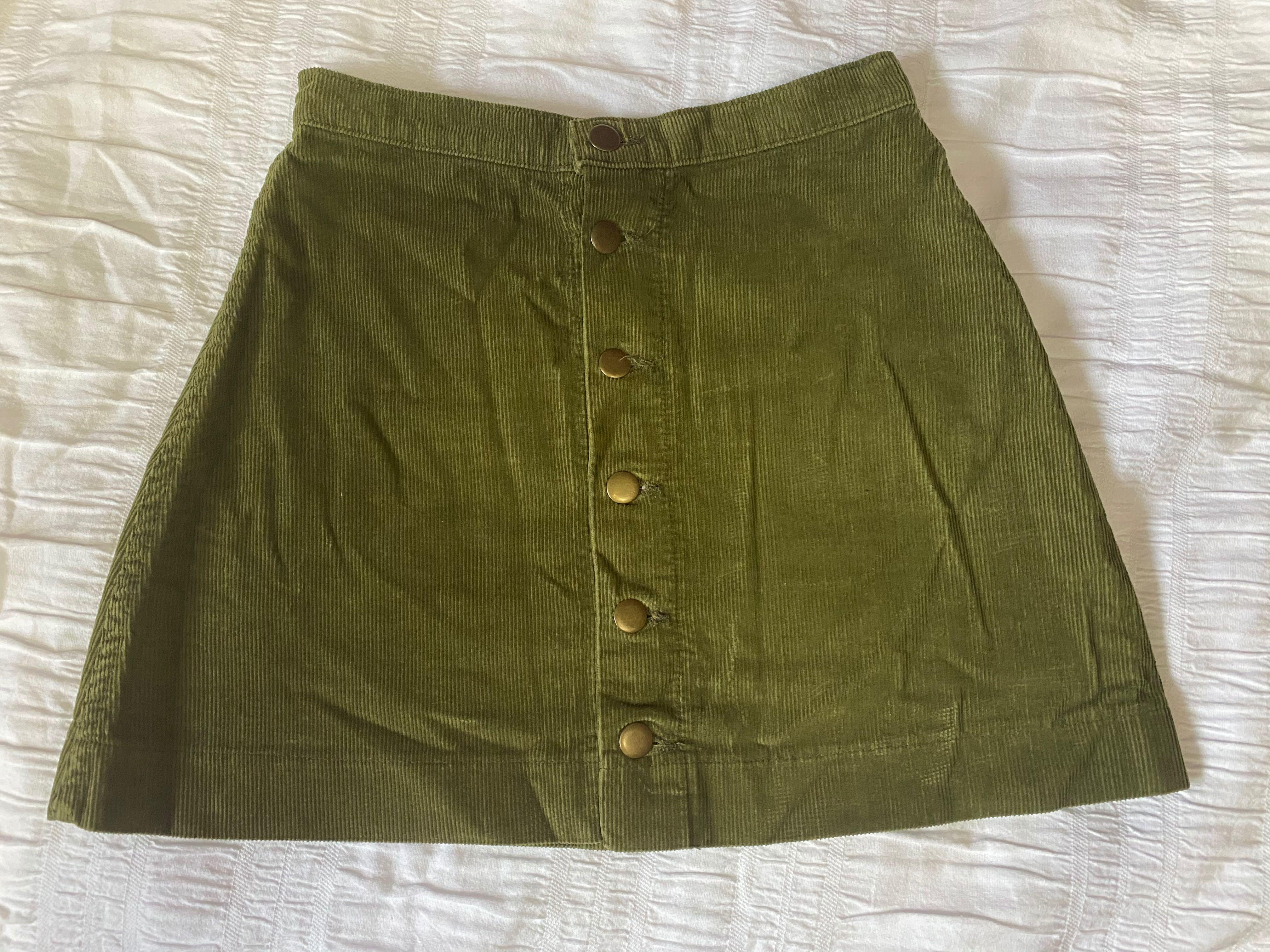 American Apparel Corduroy Skirt