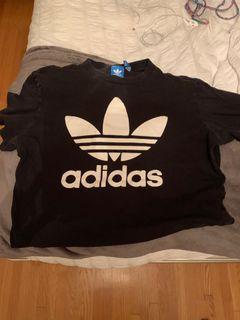 Black adidas tshirt