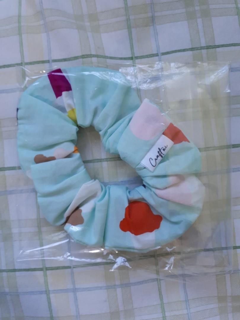 Blue Scrunchie with Patterns