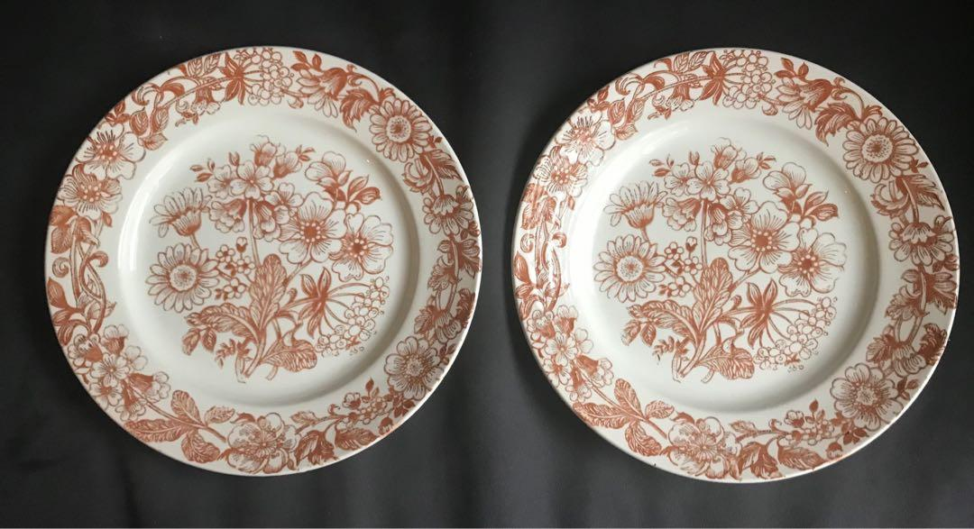 "Brand new vintage Broadhurst ironstone 9.5"" plate / dish (set of 2)"
