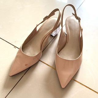 Charles & Keith Lucite Glass Heels