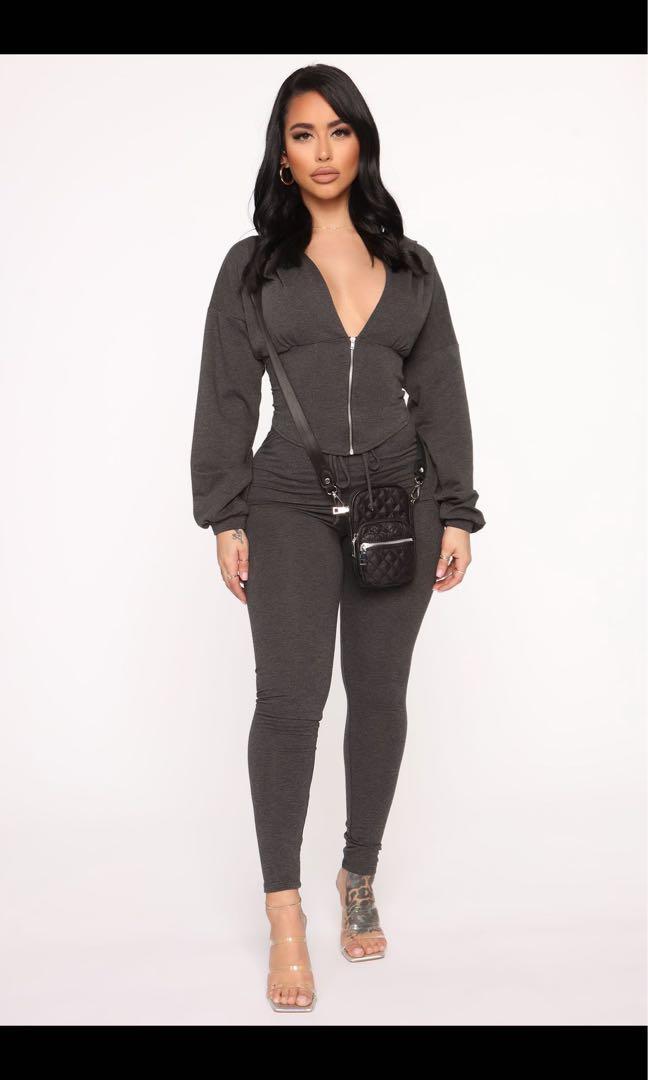 corset hoodie leggings set