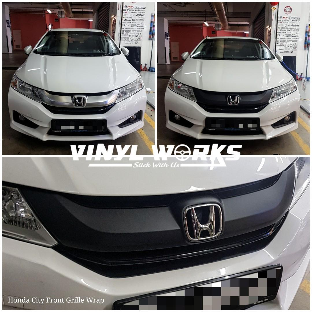 Dechrome Honda City Front Grille To Matte Black Car Accessories Car Workshops Services On Carousell