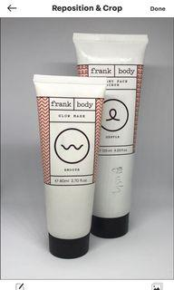 Frank body face scrub and mask