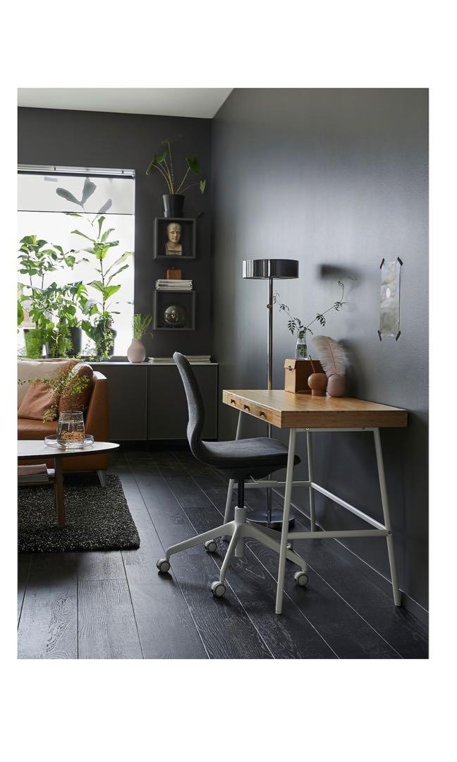 Picture of: Ikea Bamboo Table Desk Lillasen Lillasen Furniture Tables Chairs On Carousell