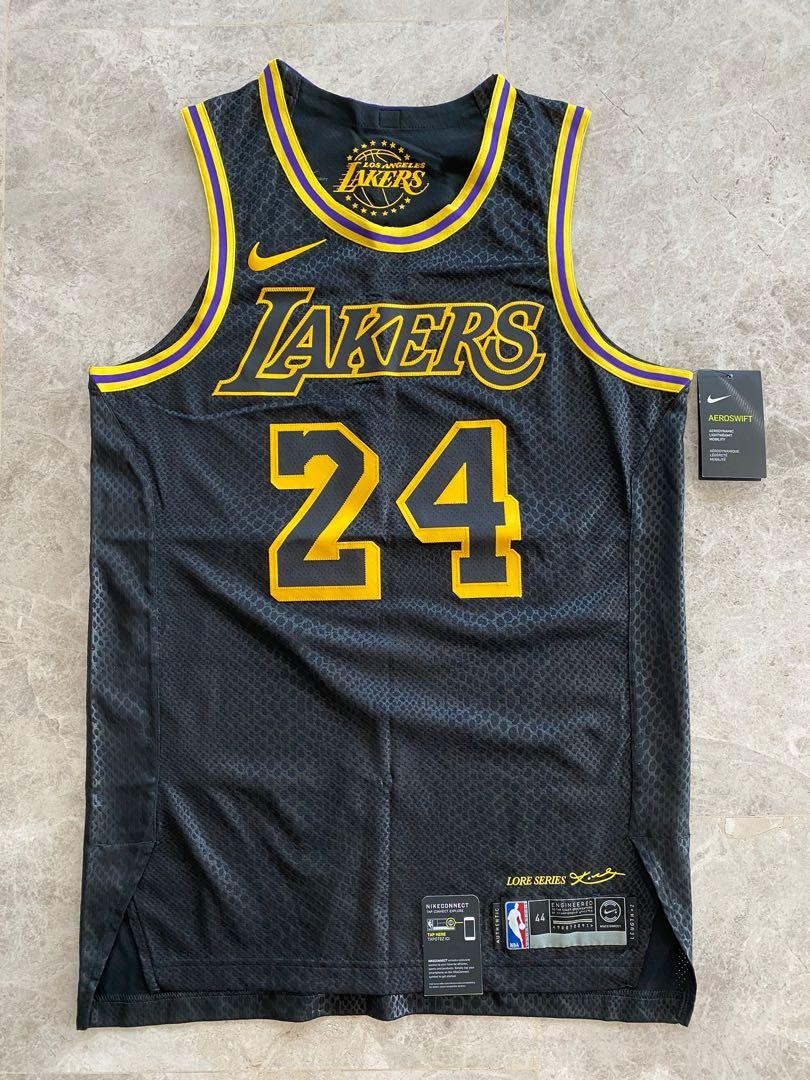 Authentic Kobe Bryant Jersey #24 Lore Series Black Mamba Size 44 ...
