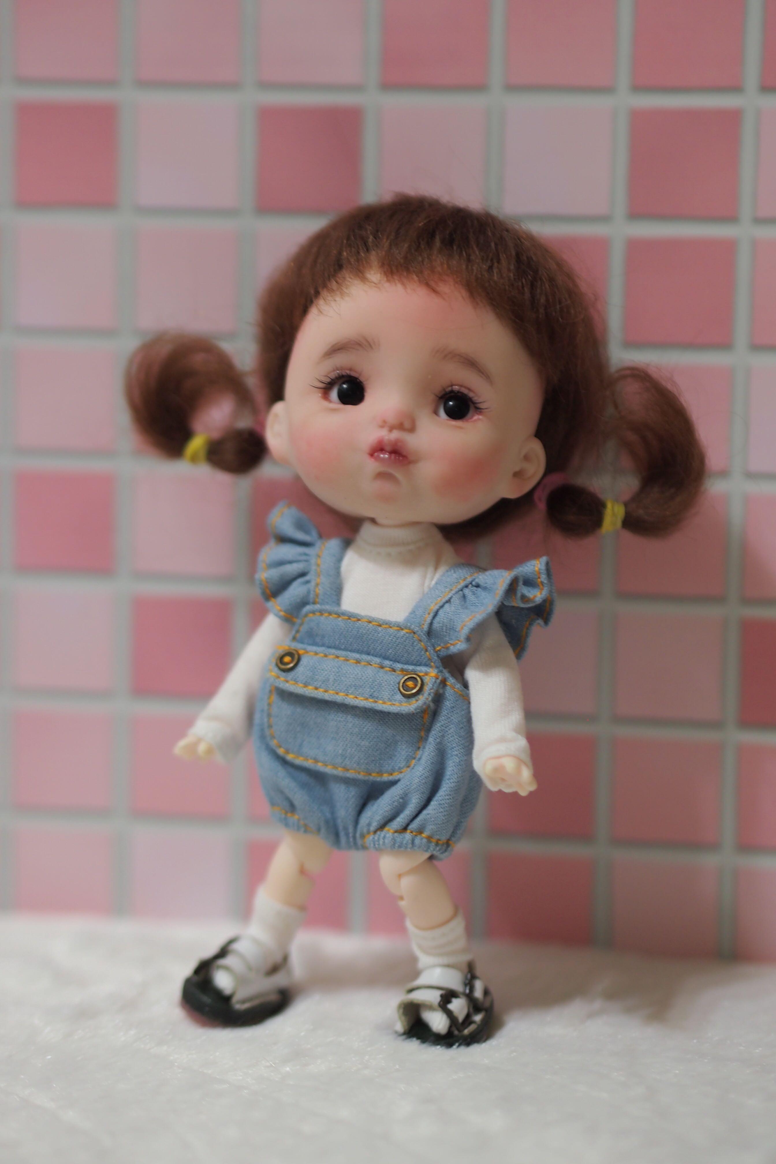 OB11 娃頭 整娃 比利時軟陶 Doll 黏土娃娃 黏土頭 關節娃娃 (二手)可愛 嘟嘟嘴 寶寶