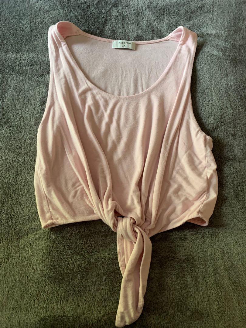 Pink babaton tank top