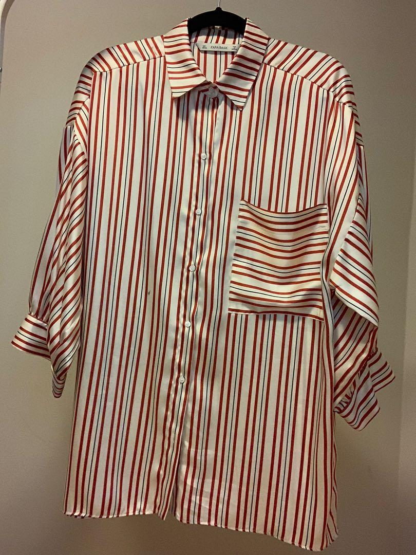 Silk striped shirt