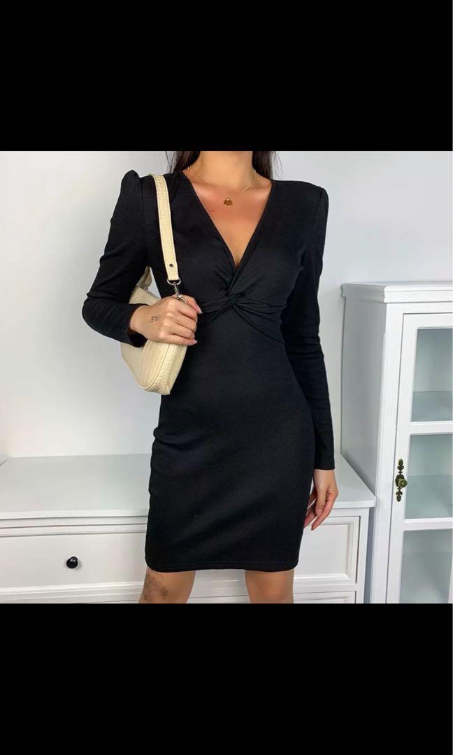 Suede wrap dress