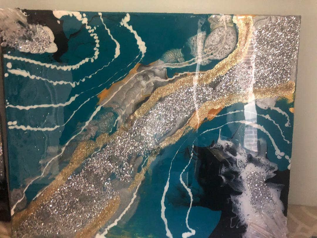 Turquoise geode