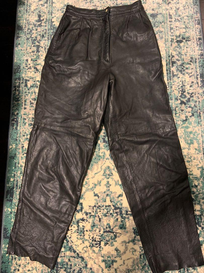 Vintage Bagatelle High Waisted Leather Pants