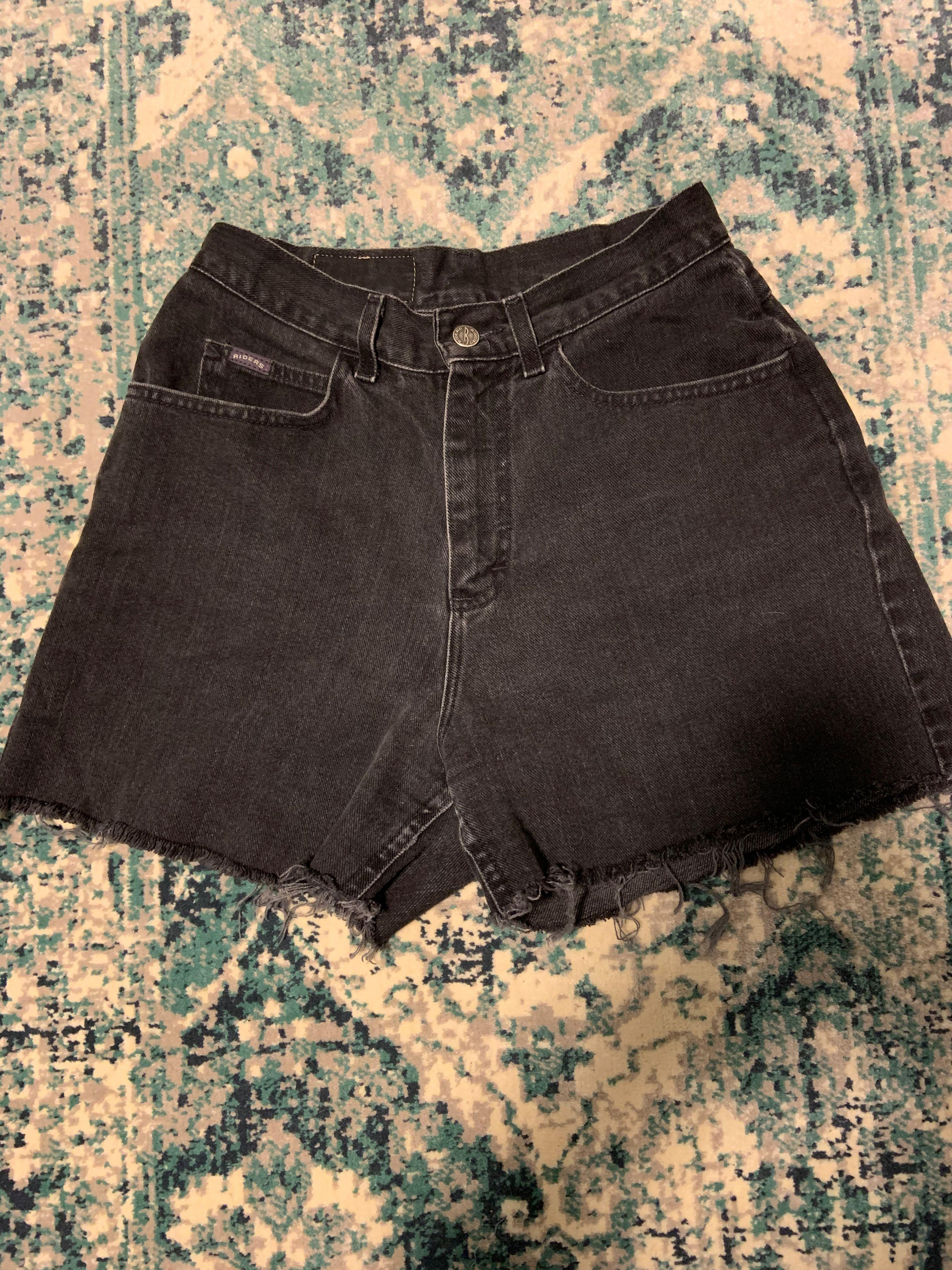 Vintage Riders dark cut off denim shorts