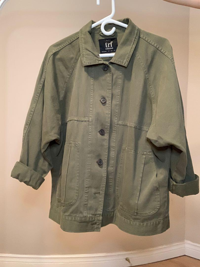 Zara army green jacket