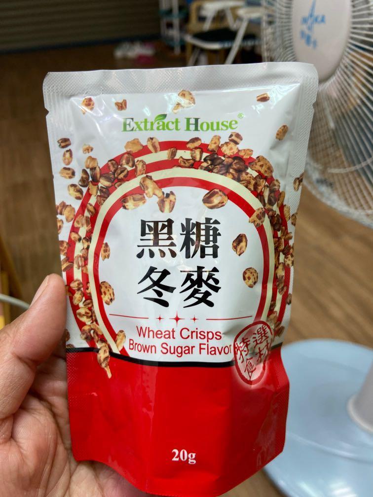 @黑糖冬麥,20g/包,台灣製造MIT,口感類似爆米花,非常好吃,一包接一包
