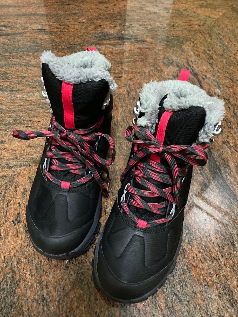 #迪卡儂 女-16°C防水防滑登山雪