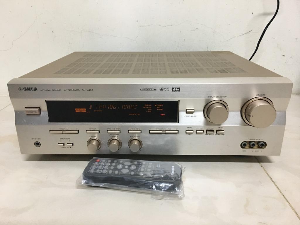 日本山葉 YAMAHA RX V496 收音/AV環繞擴大機  家庭劇院 5.1聲道 DTS雙解碼 有遙控器~