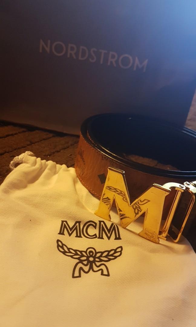 Authentic  MCM reversible belt
