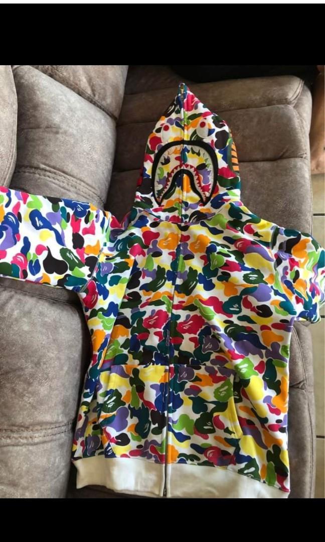 Bape shark zip up hoodie