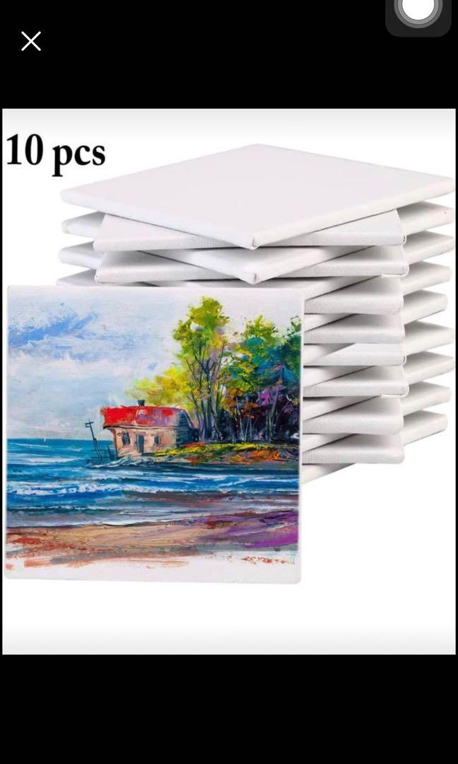 Brand new 10PCS Canvas Panels Creative Blank Painting Panels Painting Canvas Pack for Kids