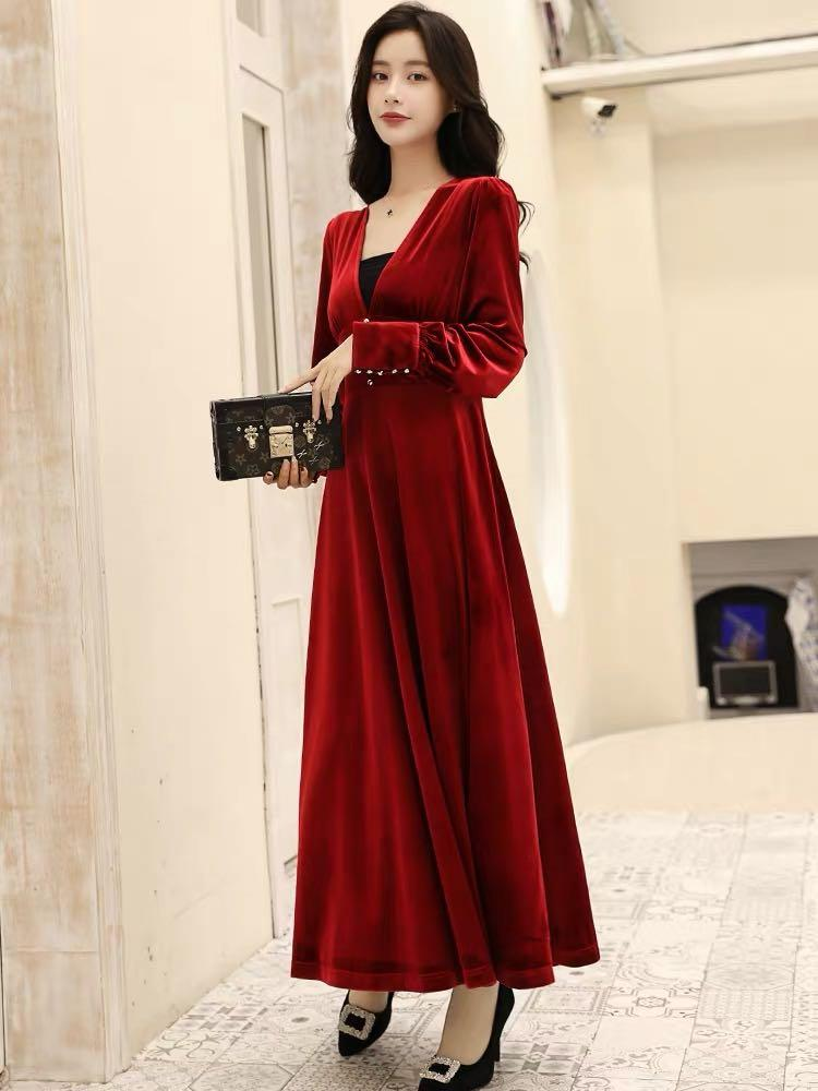 Brand new elegant velvet dress M high quality