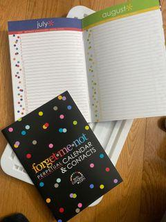 Brand new Erin Condren Forget Me Not Calendar and Contacts