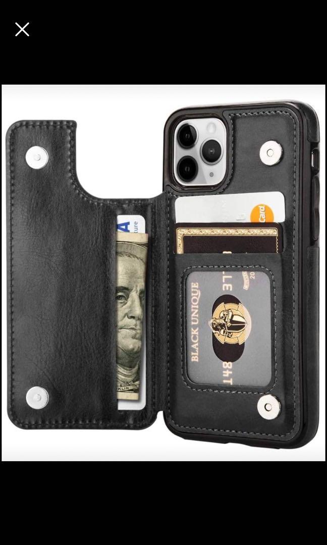 Brand new  iPhone 11 Pro Max Case, PU Leather Kickstand Shockproof Card Holder Wallet